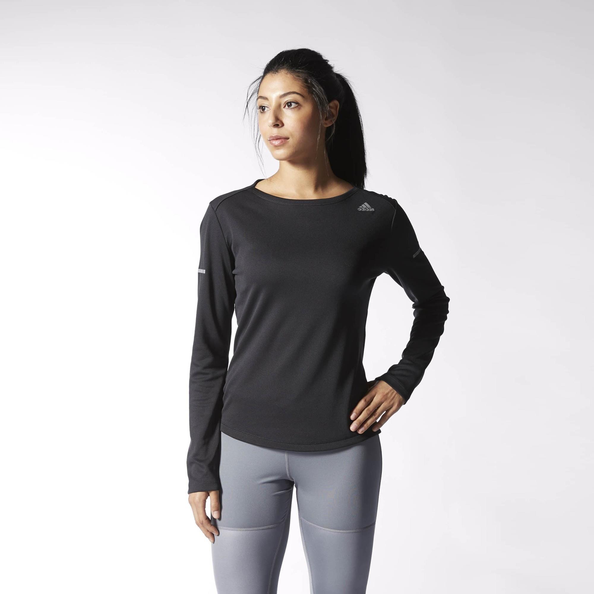 Custodio Compadecerse debate  adidas Sequencials Climalite Running Top - Black   adidas US   Long sleeve  running shirt, Running shirts, Running tops