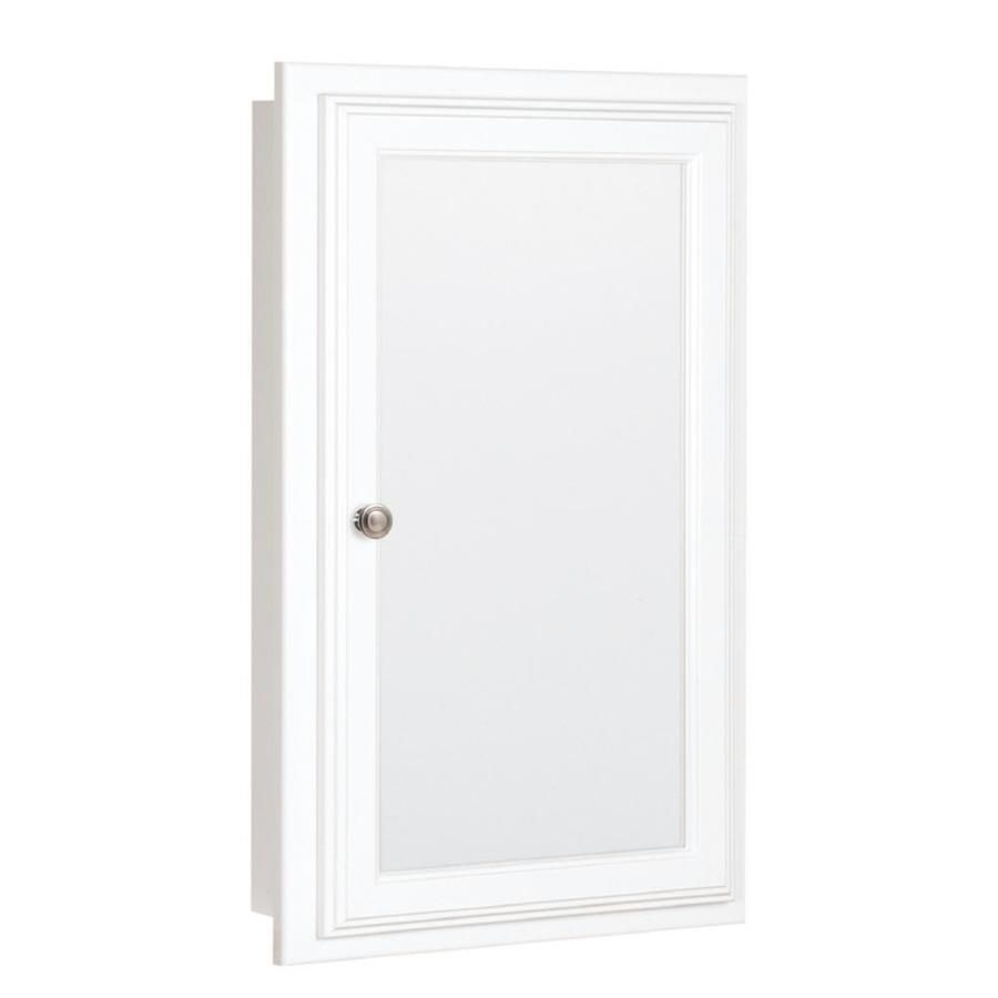 Lowes Medicine Cabinets With Lights Pleasing Style Selections 1575In X 2575In Rectangle Recessed Mirrored Mdf 2018