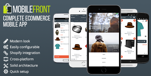 Free Download MobileFront eCommerce App - Ionic, Shopify