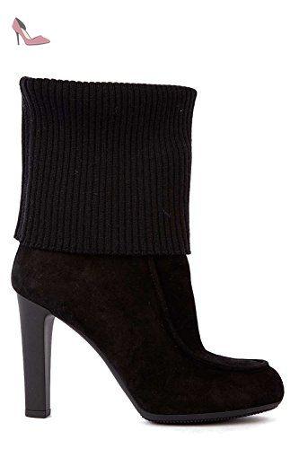 9fabcdf13e9eb6 Hogan stivaletti bottes femme à talon camocio h220 laine noir EU 41  HXW2200M3204Z6B999 - Chaussures hogan