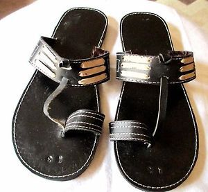 7e6f3159ca2f8 AFRICAN HANDMADE FLAT PURE LEATHER SANDALS FOR MEN SIZE 43 FROM ...