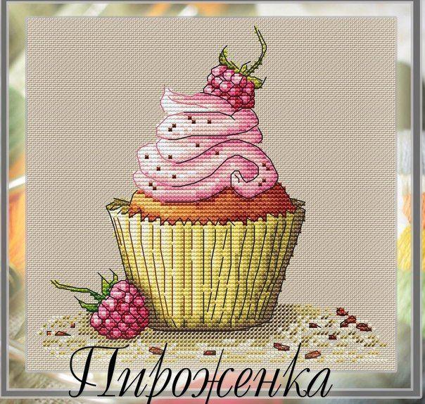 Pin von Sabrina Mommen auf Cupcakes Cross Stitch | Pinterest ...