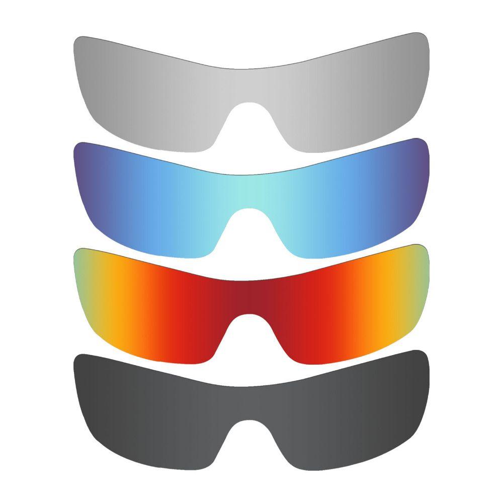 d520e2ac45 4 Pieces Mryok Anti-Scratch POLARIZED Replacement Lenses for Oakley Batwolf  Sunglasses Black   Blue