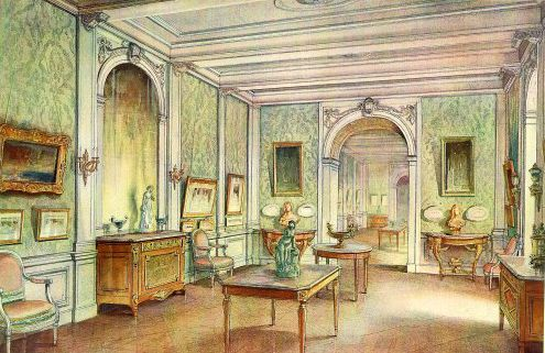 Georges Rémon - Décorateur - Planches Couleur - Salon Style Louis XV - Avant 1914