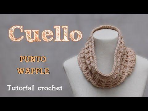 Cuello- Bufanda infinita en punto waffle - YouTube | videos ...