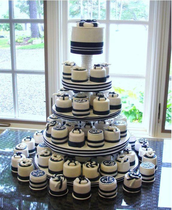 My 40th Birthday Cake Idea Boat Style Mini Cakes