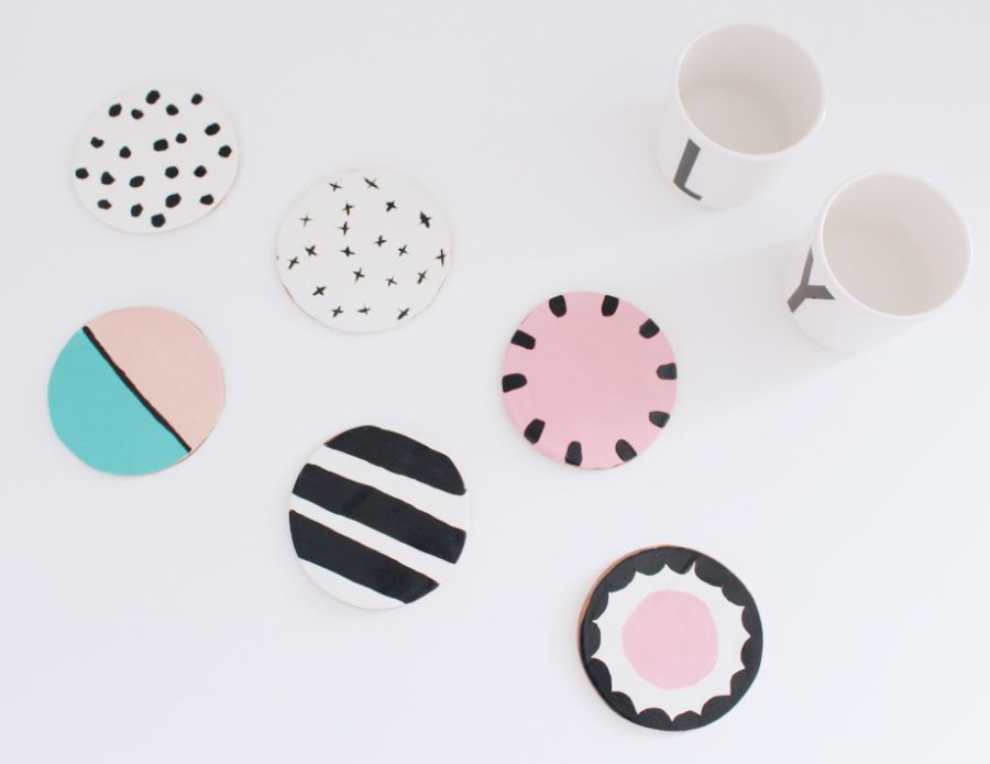 diy untersetzer aus ton selber machen pinterest diy untersetzer untersetzer und selber machen. Black Bedroom Furniture Sets. Home Design Ideas