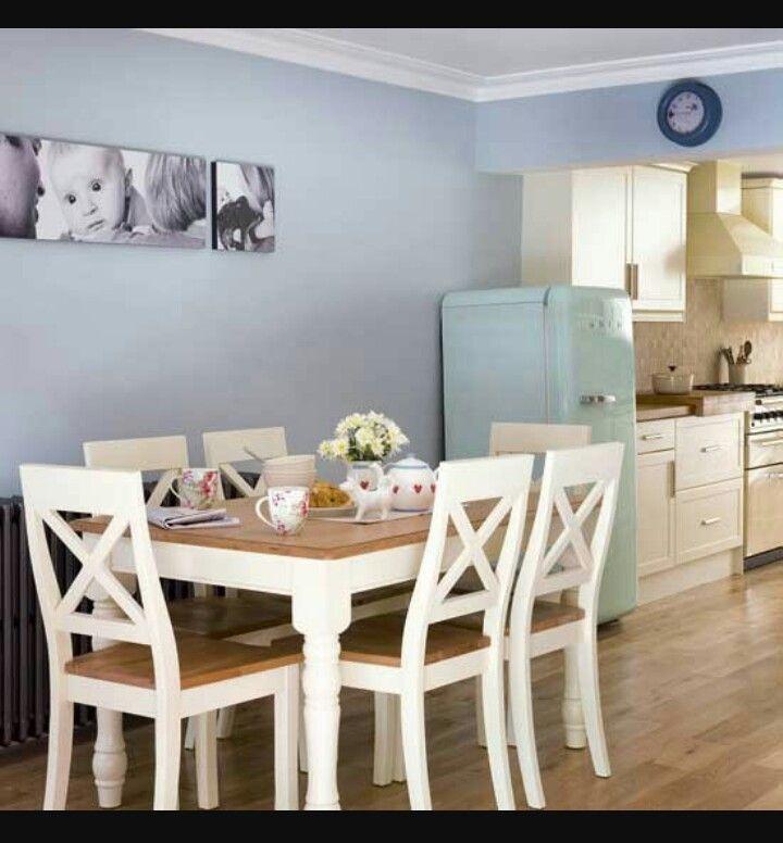 Light blue kitchen  Casa   Mesa y sillas cocina Mesas