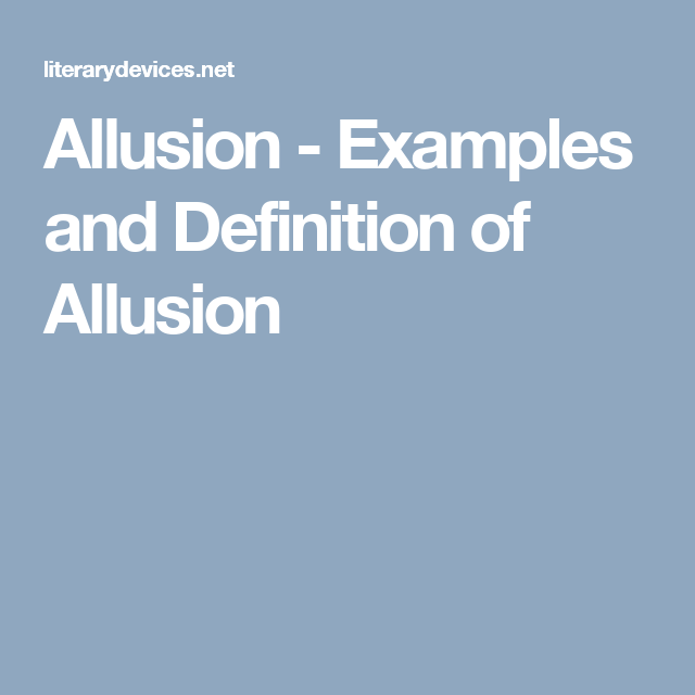 Allusion Examples And Definition Of Allusion Ib Diploma