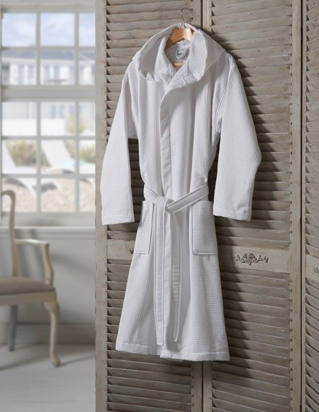 5f5742170f 100% Cotton Luxury Waffle Terry robe with hood. Robes are fully absorbent  on the