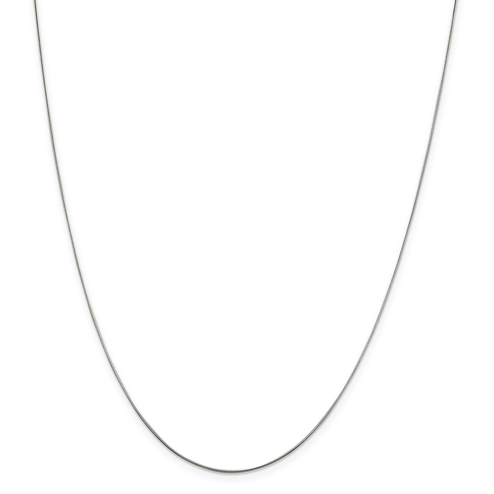 Sterling Silver .7mm Round Snake Chain QSN015-18