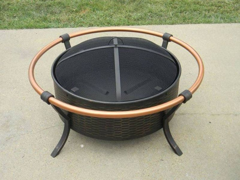 Metal Fire Pit Cover For Round Fire Ring Met Afbeeldingen