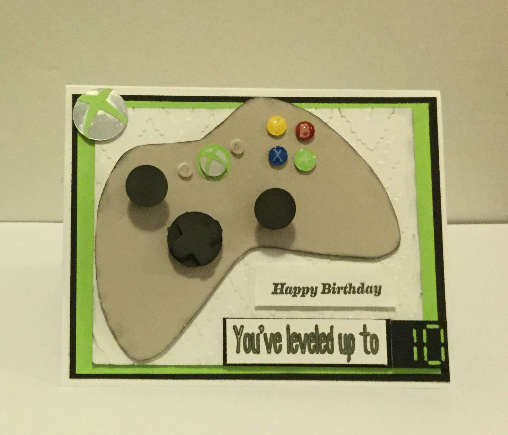 Xbox theme birthday card for 7year old  Old birthday cards