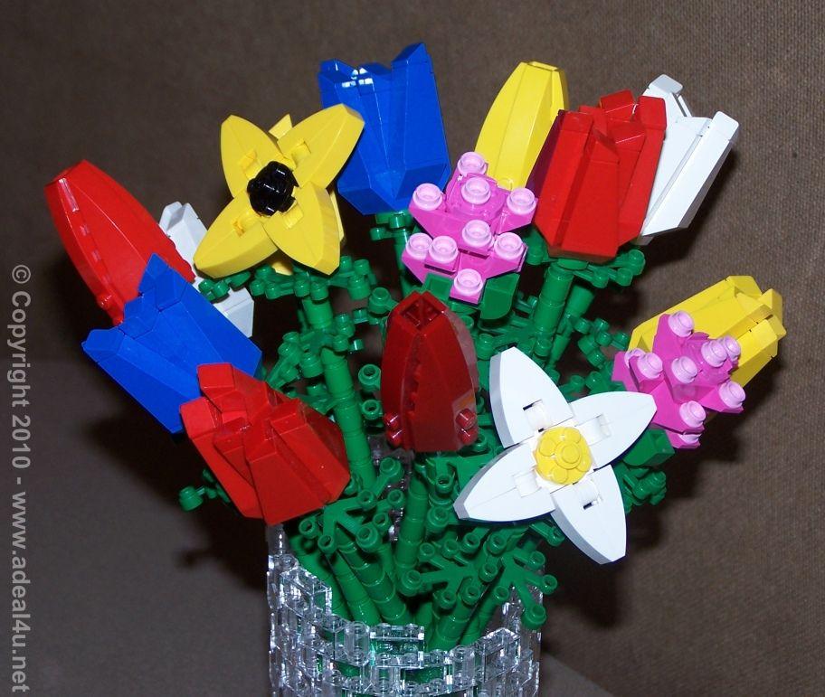 Lego flower bouquet lego flower lego design lego creations