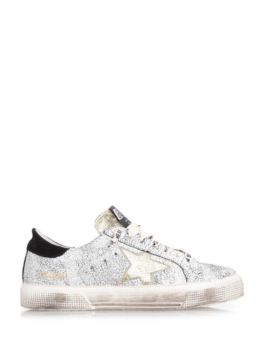 Chaussures De Sport Pour Les Femmes, Blanc, Cuir, 2017, 40 Oie D'or