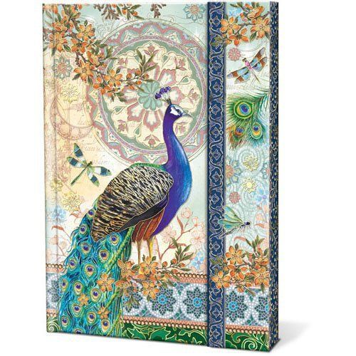 Royal Peacocks Punch Studio Magnetic Closure Journal