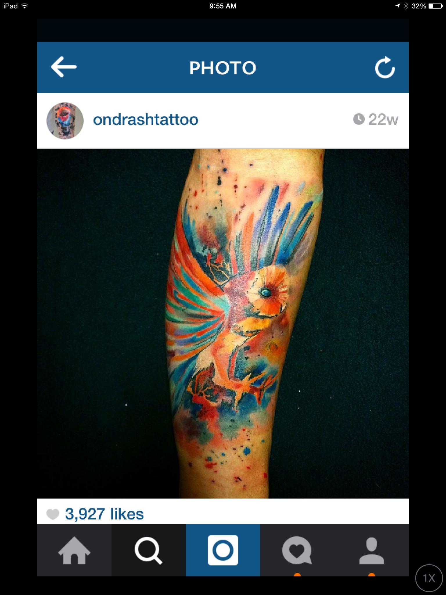Beautiful ipad photo tattoos watercolor tattoo