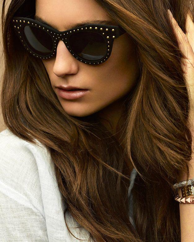 d4d2d6834a683 Italia Independent Velvet Stud Cat Eye Sunglasses  Black