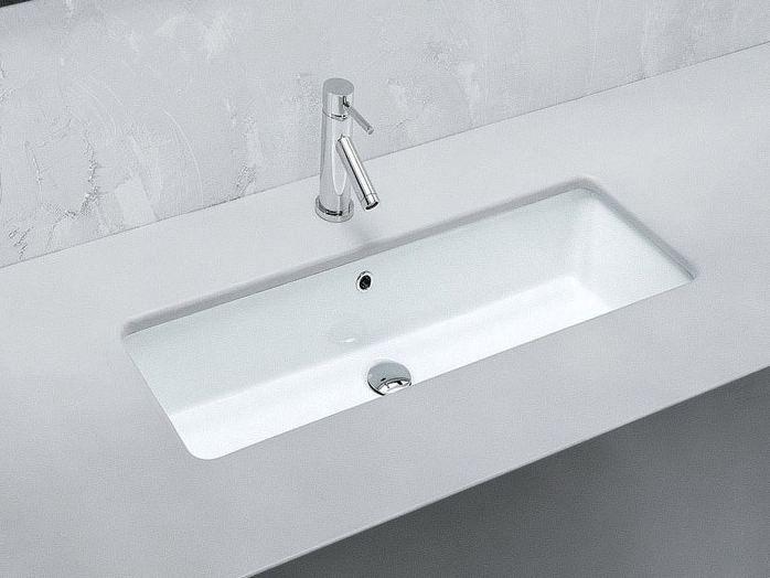 Vasca Da Bagno Hidra : Lavabo da incasso sottopiano rettangolare in ceramica gea lavabo