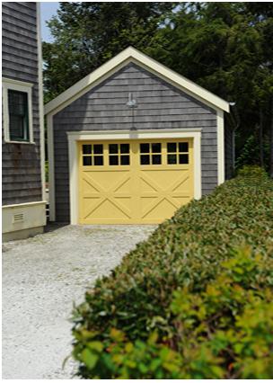 Who says garage doors shouldn\'t \'pop\'? A nice yellow garage door is ...