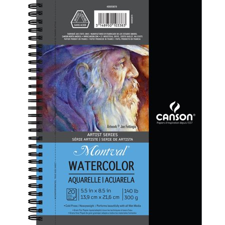 Canson Watercolor Pad 5 5 Inch X 8 5 Inch 20 Sheets Watercolor