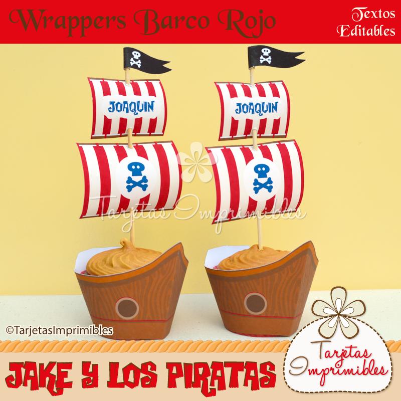 Wrappers y Toppers Barco pirata   fiesta   Pinterest   Barco pirata ...