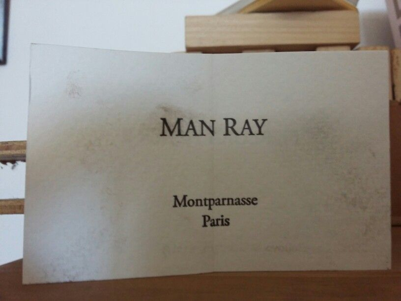 Business card, Man Ray, private collection tipografia Baffigi ...