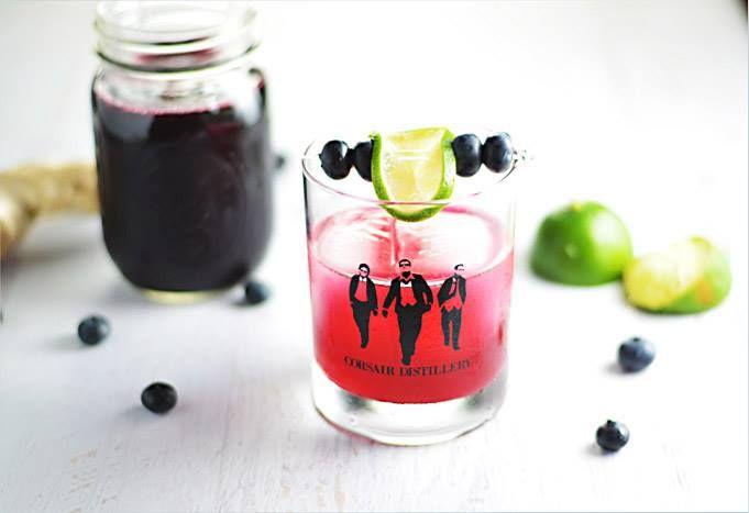 Blueberry #ginger #gimlet, featuring @CorsairDistillery jenever. #amdrinking #cocktailtime