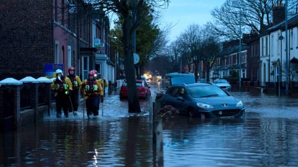 """Engineers will begin restoring power to 42,000 properties in the North West after """"unforeseen flood damage"""" at one of the city's main substations caused another widespread outage on Monday afternoon. More than 19,000 Electricity North West customers in Lancaster are still relying on emergency generators which were mobilised on Sunday night as the damage caused by Storm Desmond became clear. Sixteen severe flood warnings remain in place across northwest England, signalling a danger to life."""