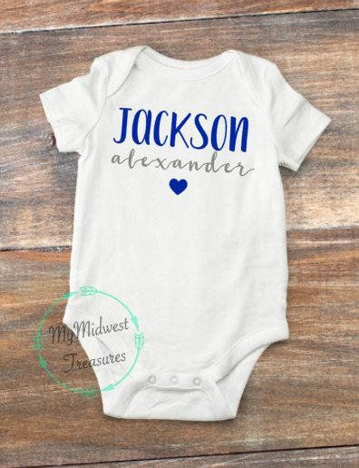 ff81a51b8 Baby Boy Coming Home Outfit | Baby boy Clothes | Personalized Name Bodysuit  | Custom Baby Apparel