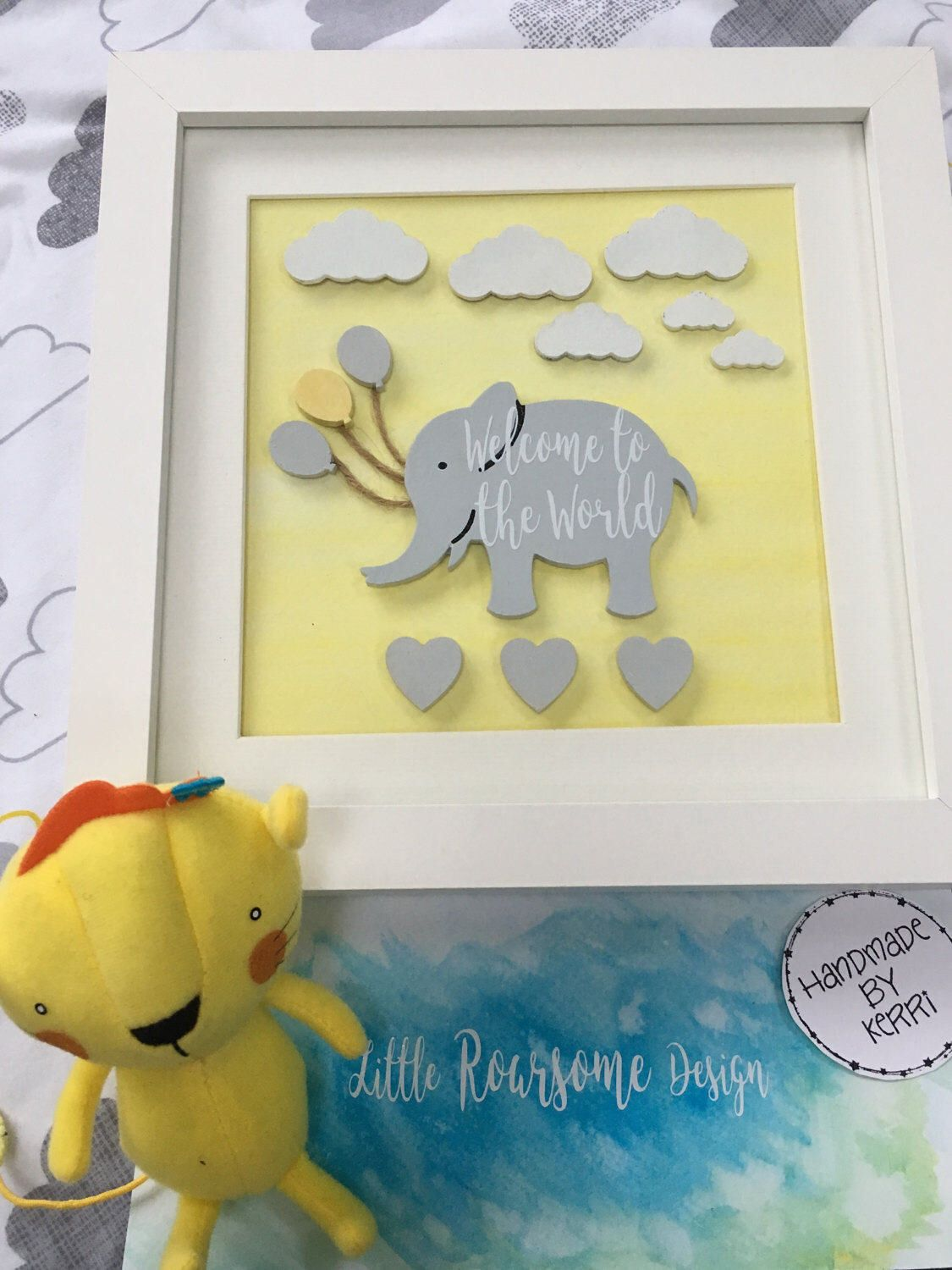 New baby gift, Nursery art decor, Elephant nursery, Welcome to the ...