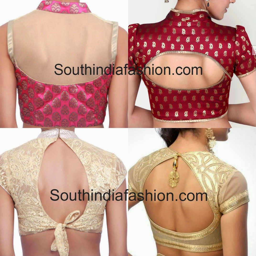 50 Simple Stylish And Trendy Blouse Back Neck Designs Blouse
