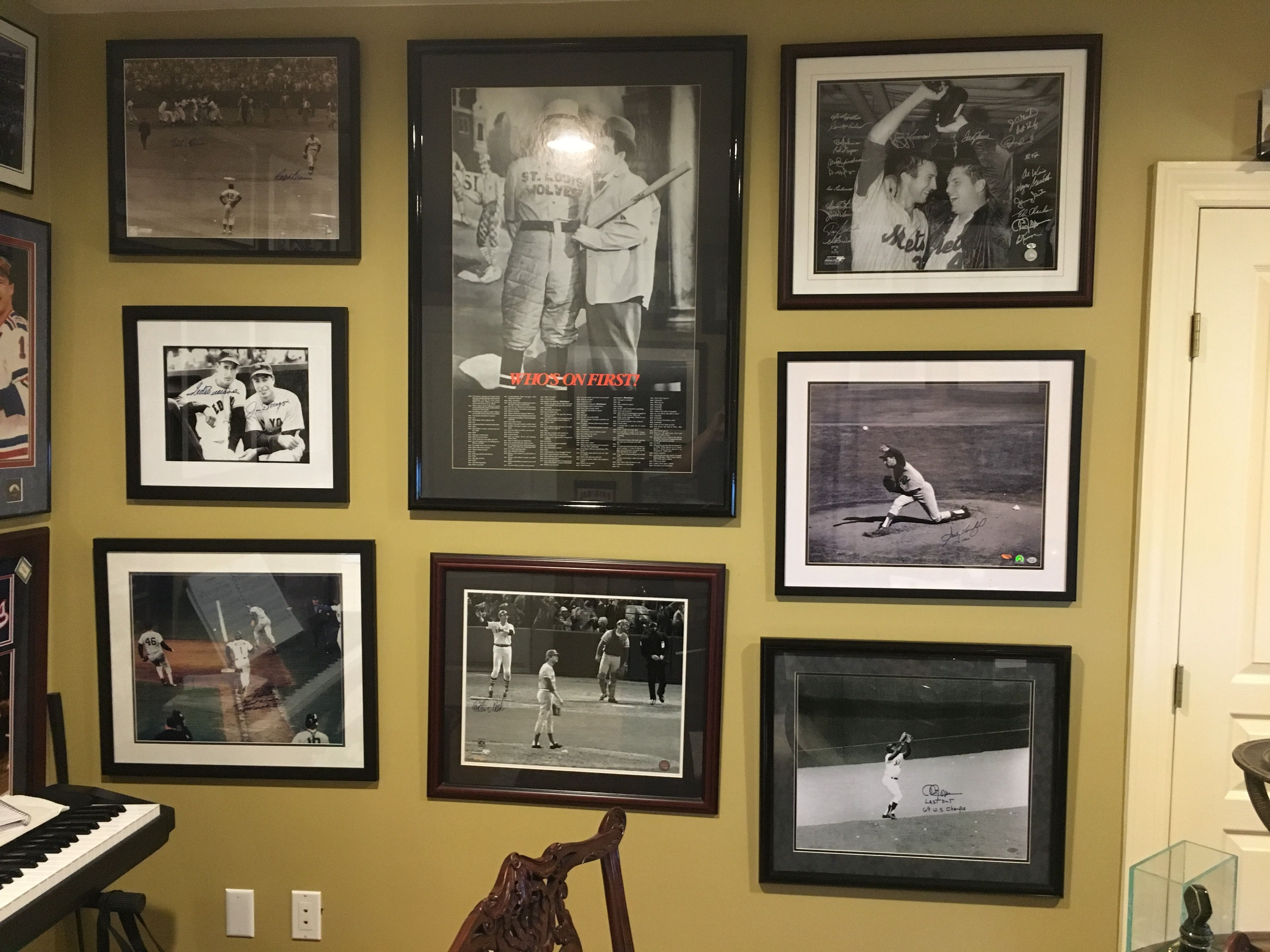 Sports Montage. Professional picture hanging service & custom ...