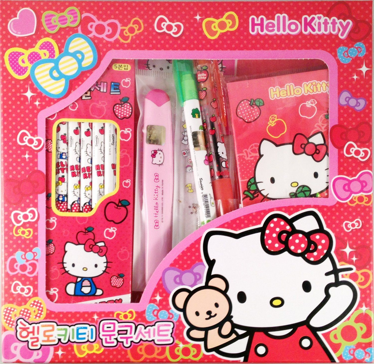 Sanrio Hello Kitty Stationery Set Pencil Ruler