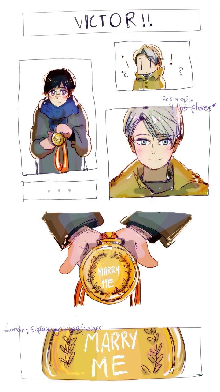 Something round and gold… (a medal or a ring? Why no both? and Im crying???)