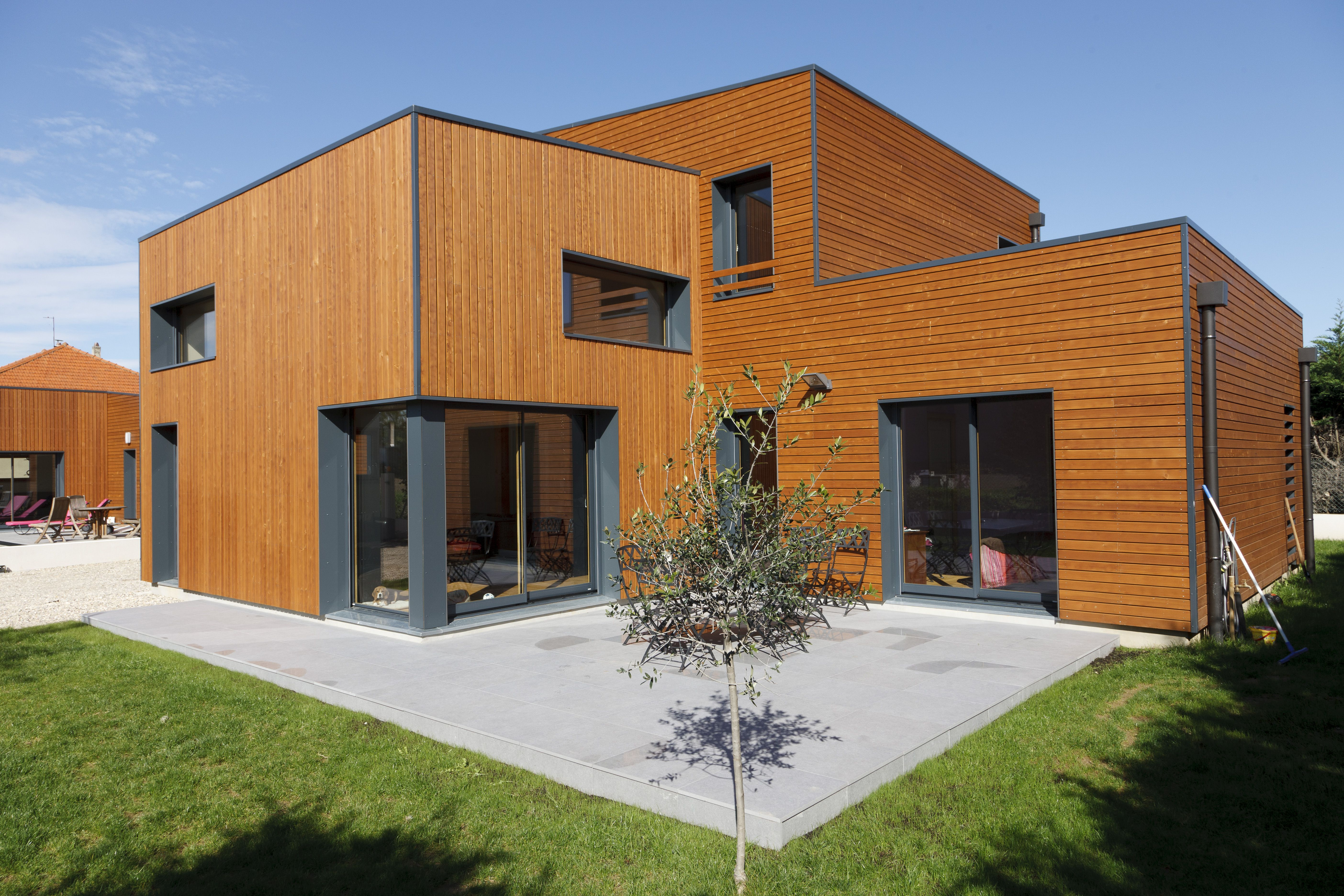 Maison contemporaine Ossature bois Réalisée par ALVEO BOIS