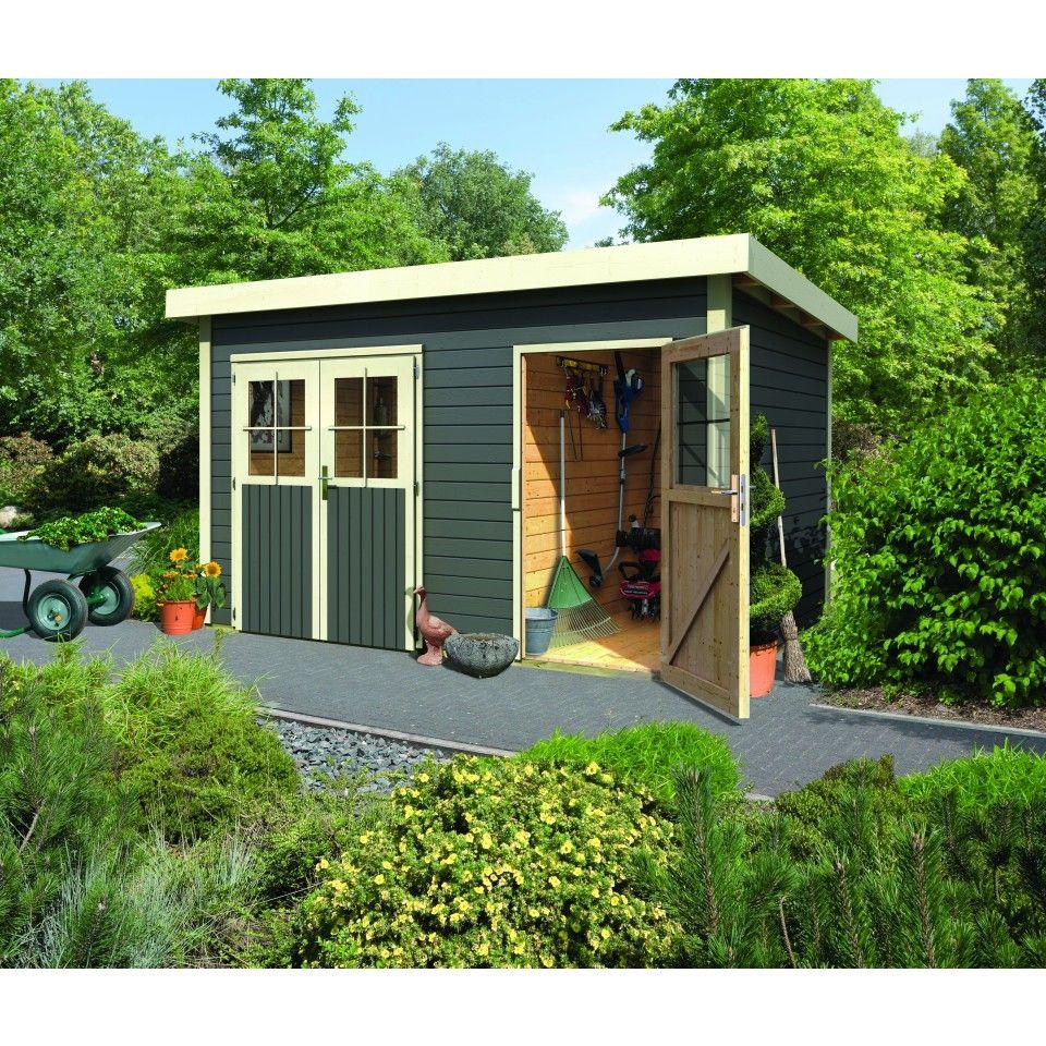 Karibu Woodfeeling Gartenhaus Tintrup 28 mm in 2019
