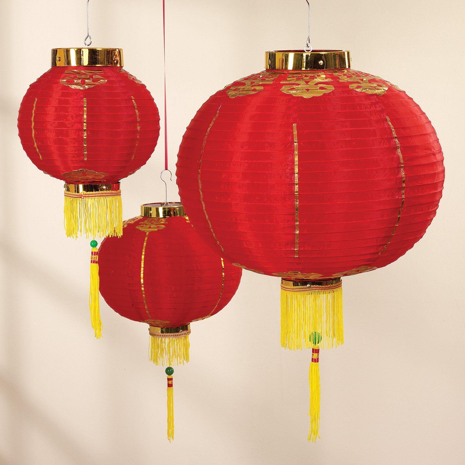 Good Luck Lantern Set Lantern Set Chinese Theme Parties Lanterns
