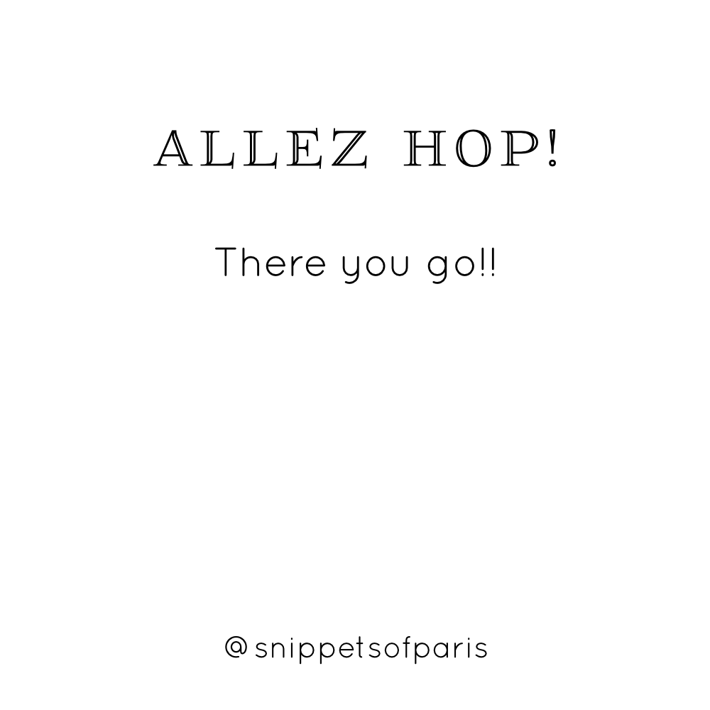 Allez Hop There You Go French English Translation Of Odd French Words And Sounds Learnfrench Funny French Words French Words French Quotes