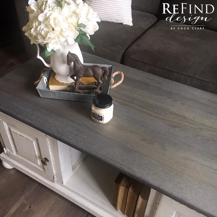 Farmhouse Coffee Table Beautiful Naturally Weathered Gray Top Paired With Miss Mustard Seed Milk Paint In