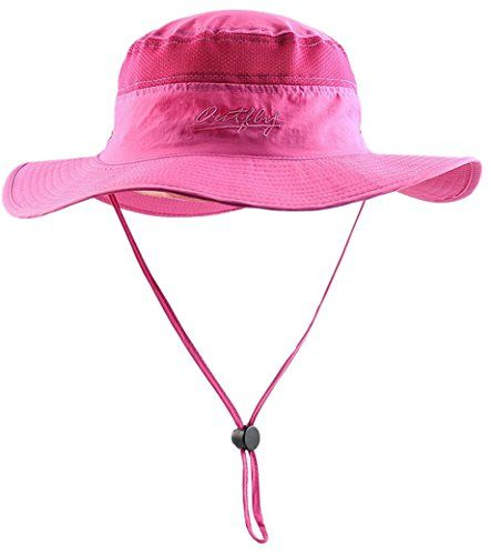 f4fd0e7984e FEOYA Outdoor Bucket Sun Cap Mesh Camping Boonie Hat Beach Wide Brim Cap  With Chin Strap