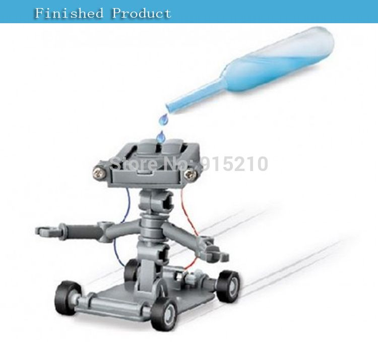 DIY Assembly Salt Water Powered Robot Kit Kids Science Educational Learning Toy