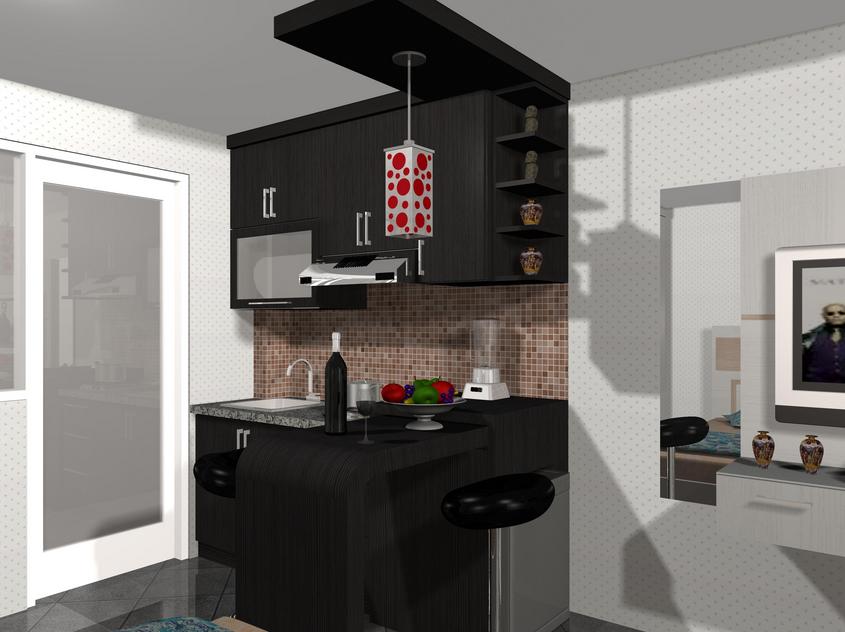 Desain Dapur Ukuran 2x3