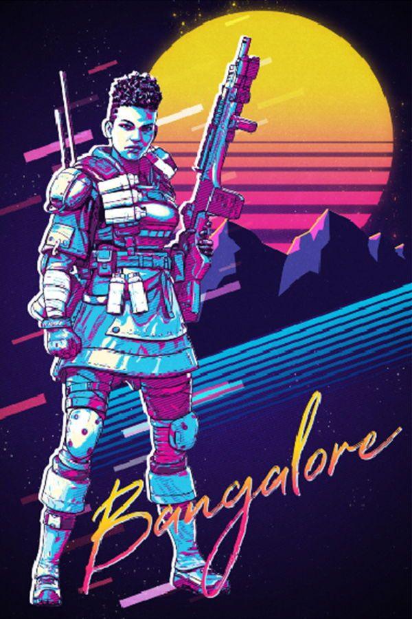 Apex Legends Bangalore Retro Poster Print metal posters