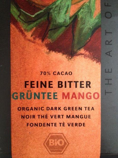 Love this organic mango green tea chocolate! Fit Food Travel