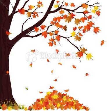 Autumn Tree And Pile Of Lives Autumn Trees Autumn Painting Autumn Art