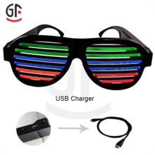 Wedding Door Gift Color Changing High Quality Promotional Music Activated Party Wear Glasses Search Result Shutter Shades Led Sunglasses Novelty Sunglasses