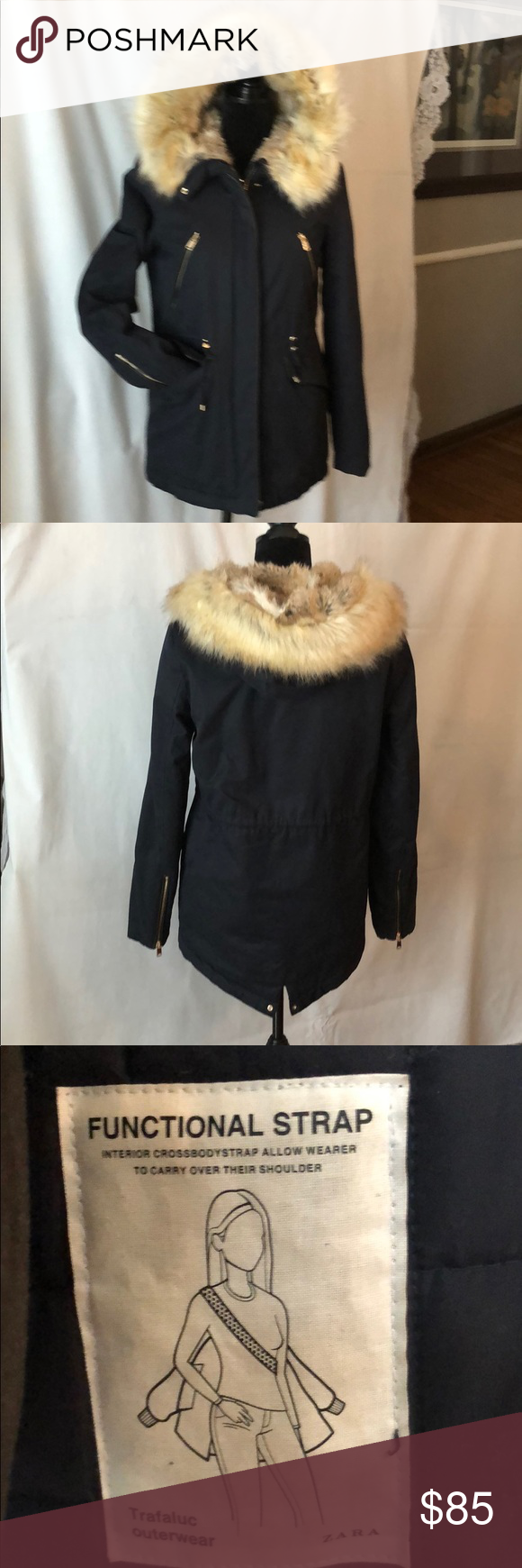 Zara Trafaluc Outerwear High Quality High Style Warm And Soft Coat Adjustable Waist Very Good Condit Outerwear Women Clothes Design Online Womens Clothing [ 1740 x 580 Pixel ]
