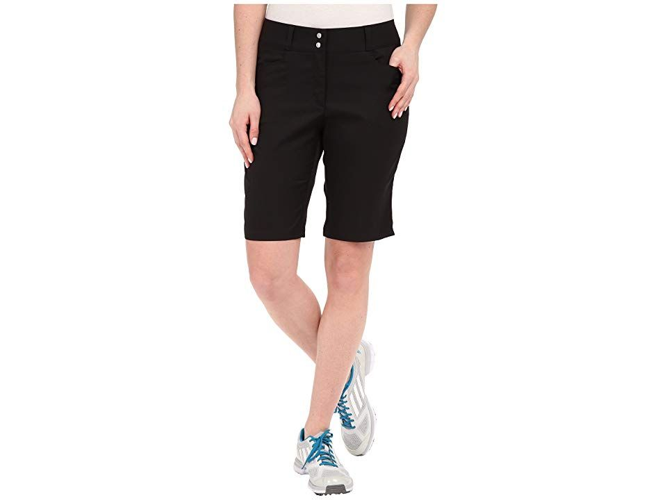 adidas Golf Essentials Lightweight Bermuda Shorts Black Womens Shorts Feel confident in your game from the first drive to the final putt Lightweight stretchwoven fabricat...