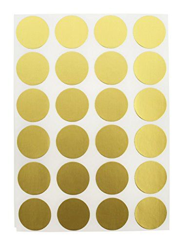 """3/4"""" Metallic Gold, Color Coding Dot Labels on Sheets 
